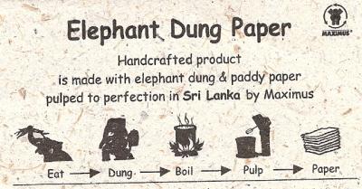 werkwijze olifantpoeppapier
