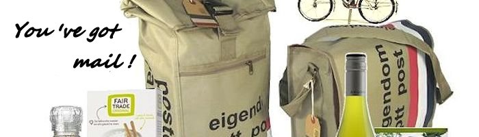 kerstpakket in post travelbag